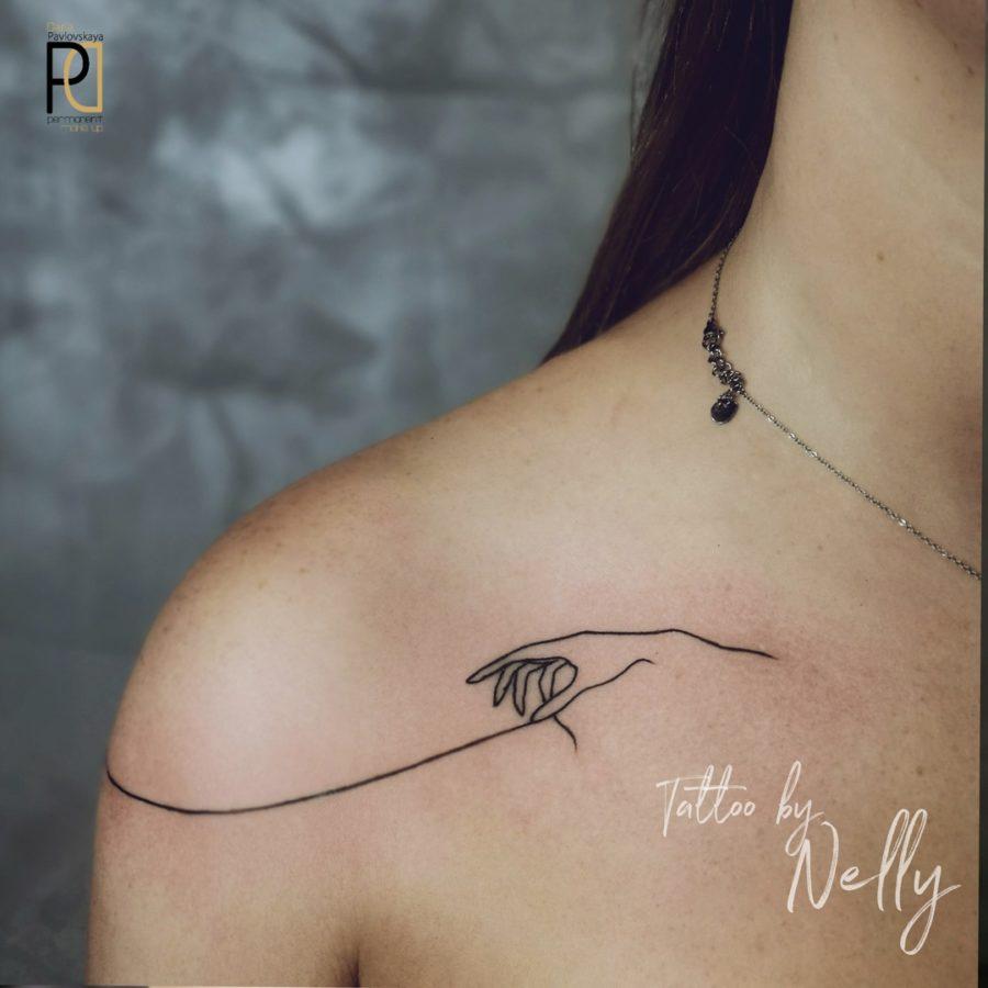Нежная татуировка от мастера Nelly