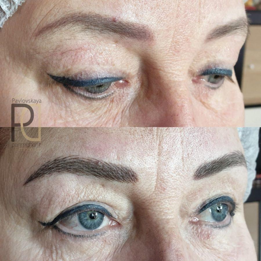 Дарья Павловская. Волоски с растушевкой (обновление татуажа спустя 2 года)